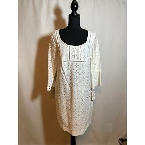 NWT! ICE White Lace Bell Sleeve Dress